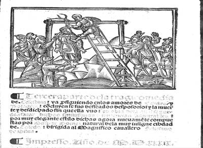 Portada de la Tercera Celestina, de  Gómez de Toledo, 1539